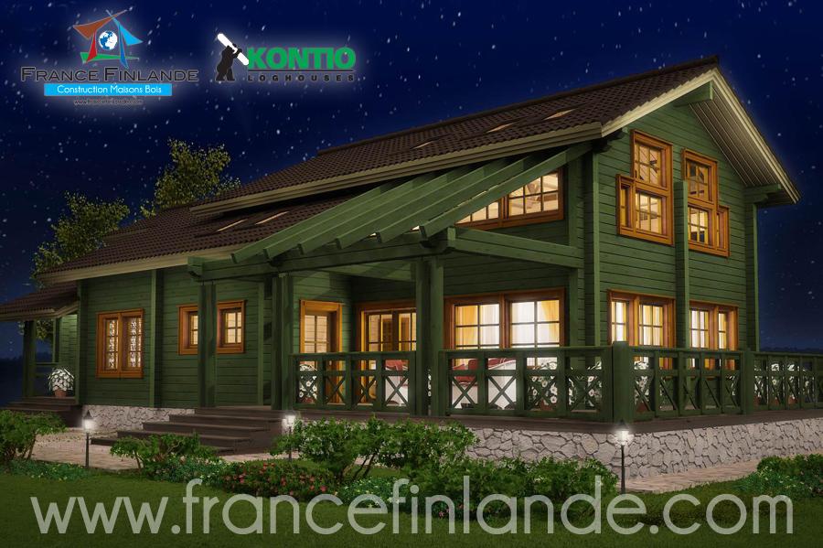 Maison en bois finlandaise elegant fere champenoise for Maison en bois finlandaise
